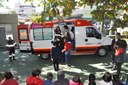 Atividade com a ambulância do SAMU: CETEPE 21/05/2018